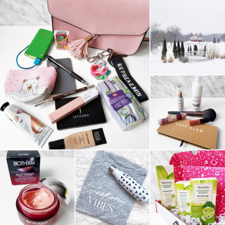 bblogger, bbloggers, bbloggerca, canadian beauty blogger, beauty blog, instamonth, what's in my purse, in my purse, biotherm, blue therapy, red algae, uplift cream, swell bottle, s'well, aveeno, maxglow, monthly favorites, soft glam palette, joe fresh beauty, maybelline age rewind concealer