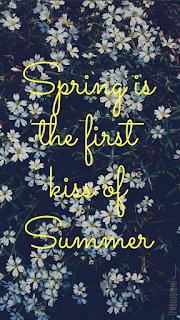 fond d'écran smartphone fleurs printemps citation