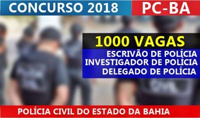 Concurso Polícia Civil BA 2017
