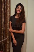 Priya Vadlamani super cute in tight brown dress at Stone Media Films production No 1 movie announcement 073.jpg