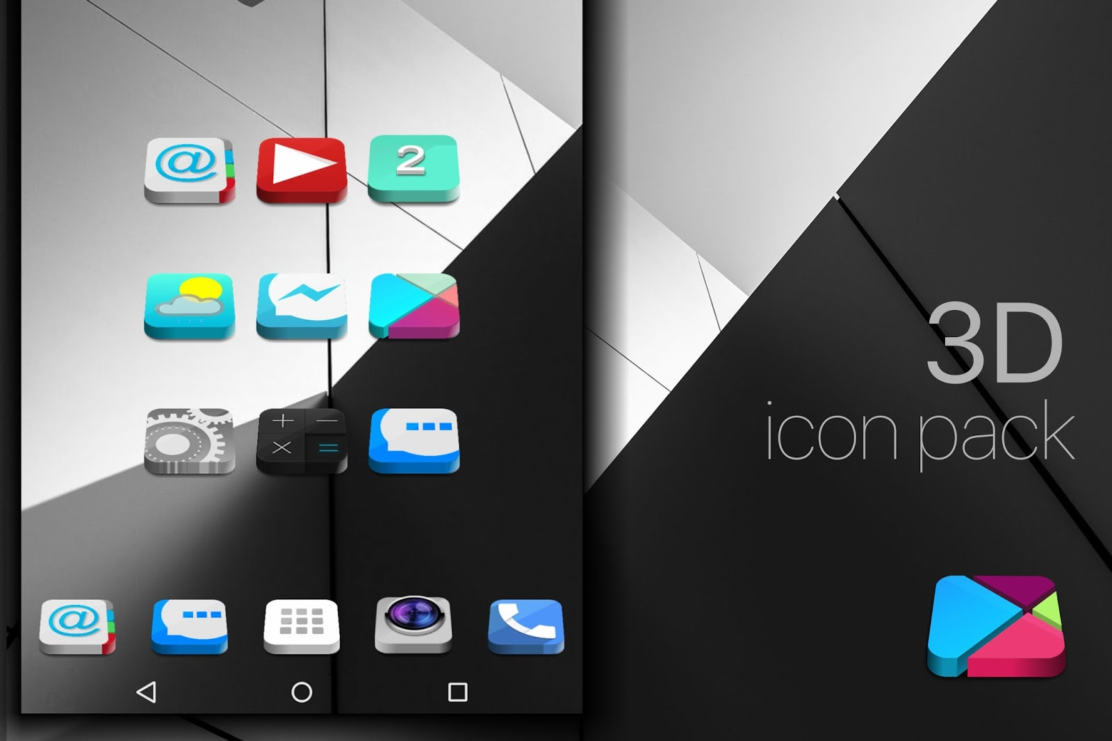 Themes For Android Theme To Android Icon Pack 3d To Nova