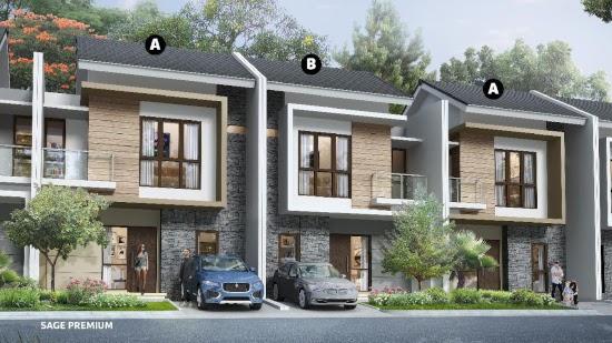 tampak depan rumah minimalis ukuran 7x11 meter 4 kamar tidur 2 lantai