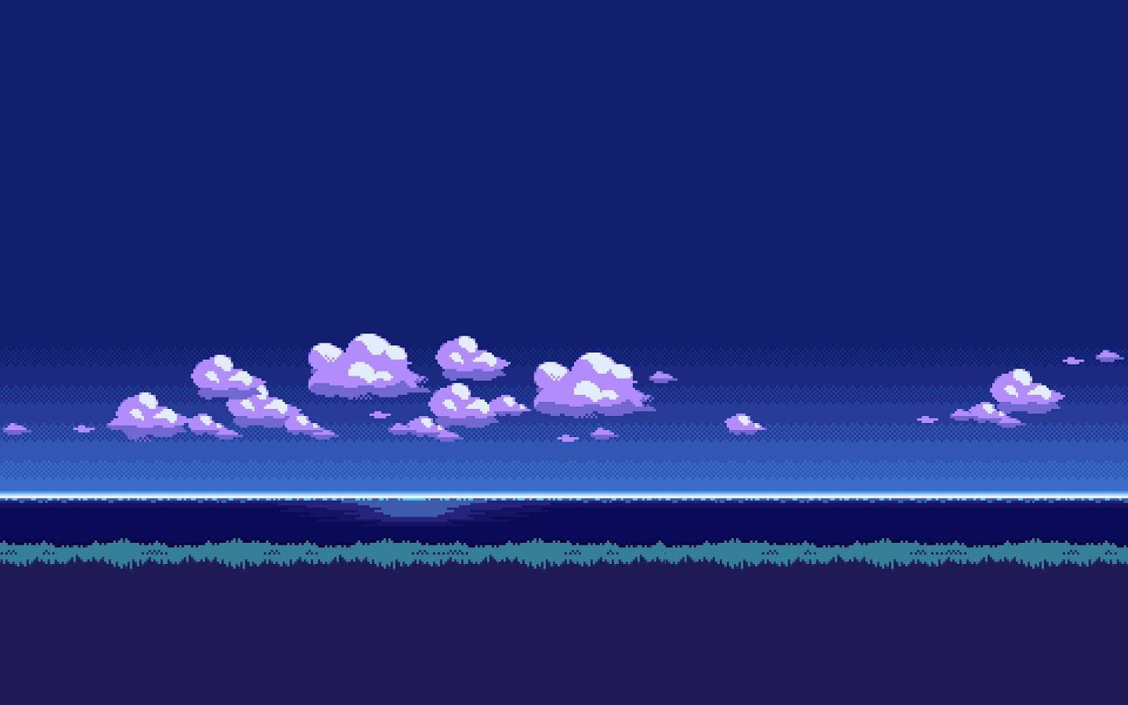8 bit pixeleted wallpaper