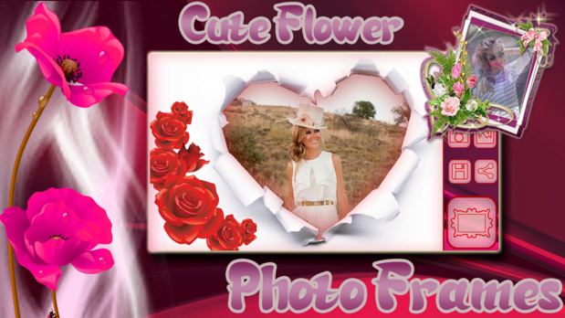 cute flower photo frames for android app free download android