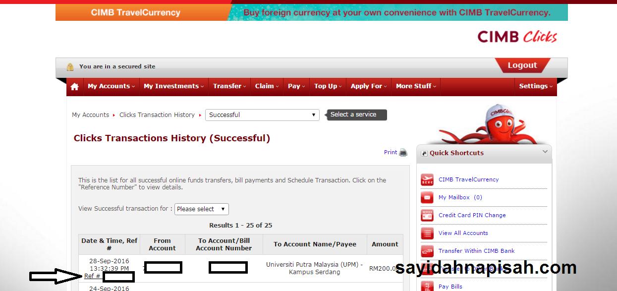 yeay dah settle bayar yuran konvo & mohon jubah akademik secara Online!