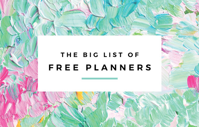 The Big List of Free Planners - The guide to all my free printable planners and organizers in both the Classic and Irma styles. By Eliza Ellis.