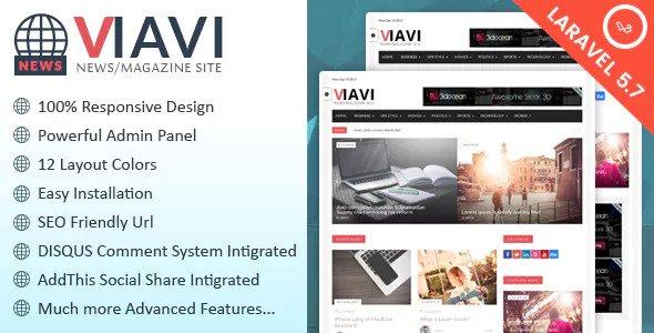 responsive blueprint Powerful administration panel amongst  Viavi v1.0.3 - News, Magazine, Blog Script to Download