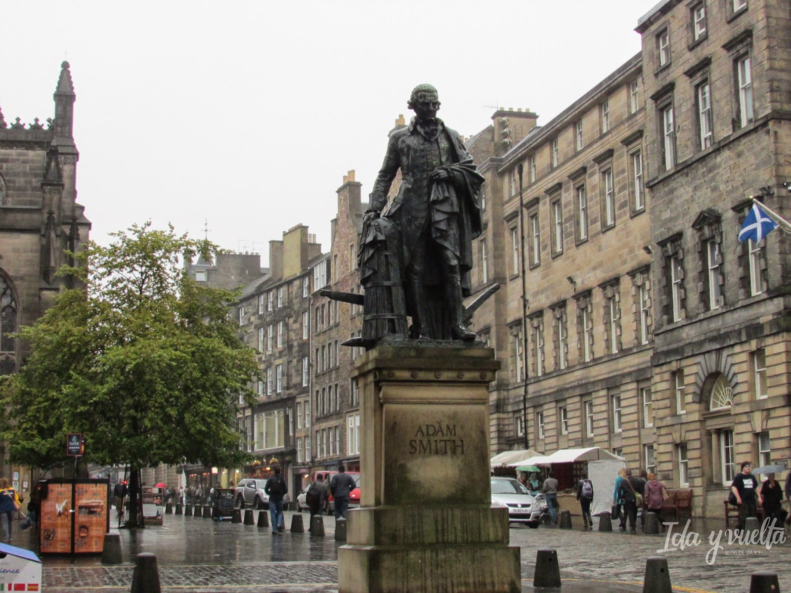 Adam Smith en la Royal Mile