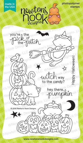 Newton's Boo-tiful Night | Cat & Pumpkins Halloween Stamp set by Newton's Nook Designs #newtonsnook #halloween