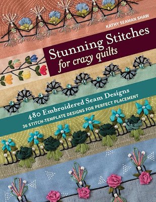 Stunning Stitches for Crazy Quilts by Kathy Seaman Shaw as featured by floresita on Feeling Stitchy