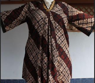 Model Baju Atasan Batik Lengan Panjang Untuk Wanita Gemuk