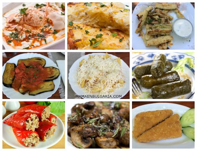 Algunos platos sin carne Bulgaria