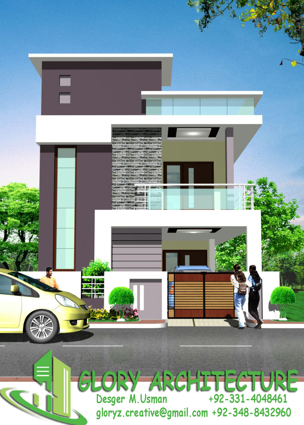 Building Front Elevation Drawings : House plan elevation d view