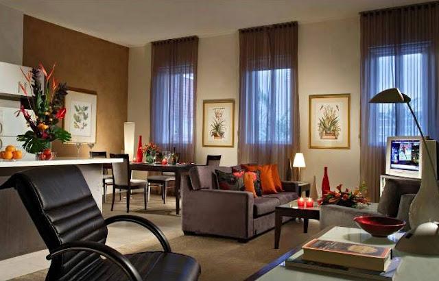 Desain Ruang Keluarga Terbuka dan Ruang TV Minimalis Modern