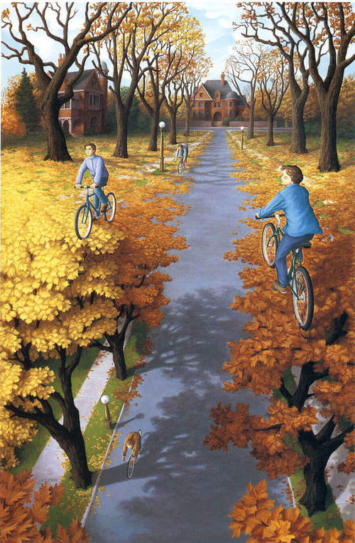 optical-illusion-biking-on-leaves-or-trees