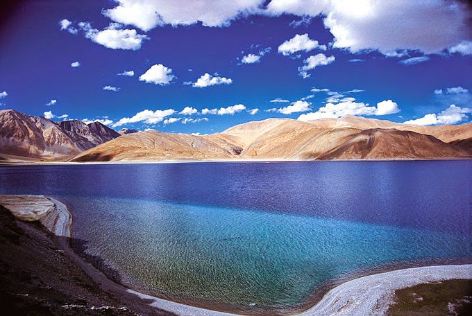 Pangong Tso Lake in the Himalayas