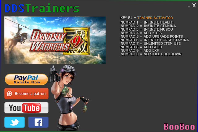 Dynasty Warriors 9 Trainers and Cheats for PC