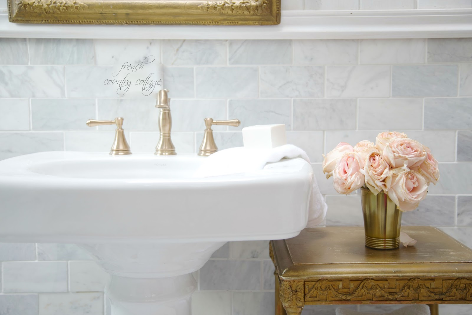 Details The perfect pedestal sink  FRENCH COUNTRY COTTAGE
