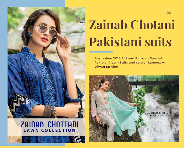 Zainab Chotani Pakistani Suits and salwar kameez wholesaler