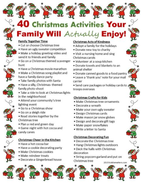 Christmas Activities Ideas Party Games for Adults and Kids Online