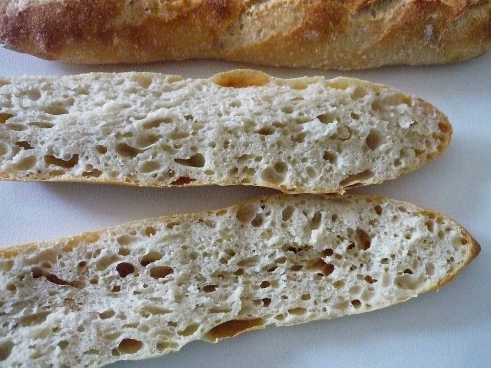 baguettes poolish masa madre