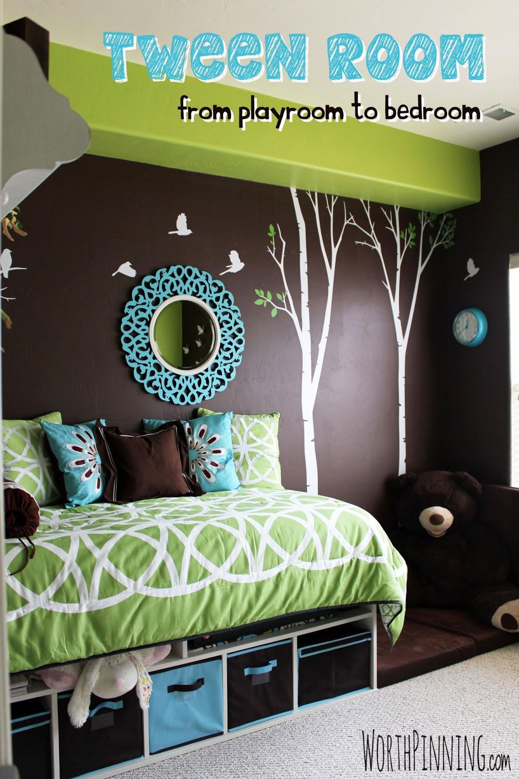 Tiny Box Room Made Into Cool Pre Teen Boys Bedroom: Worth Pinning: Tween Girl Room