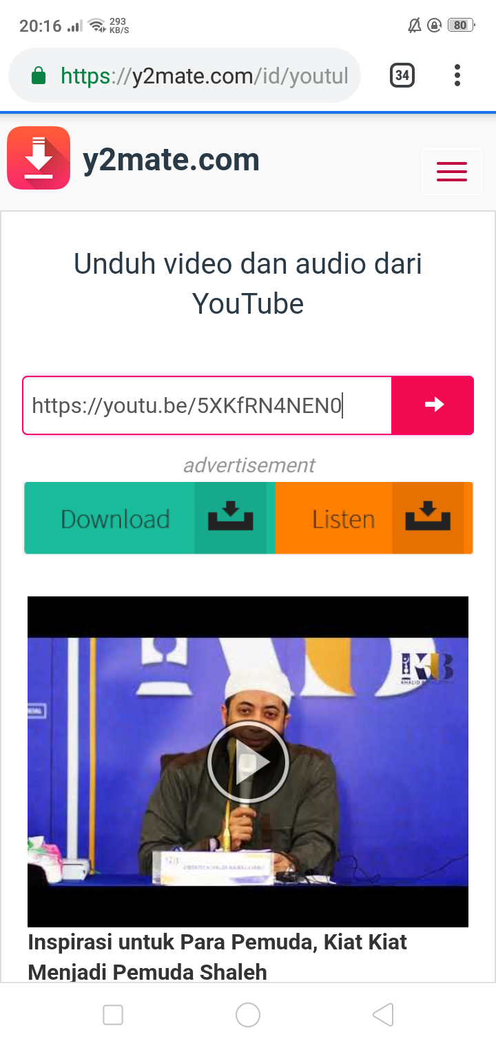 2 Cara Download Video Youtube di Android Tanpa Aplikasi Khusus