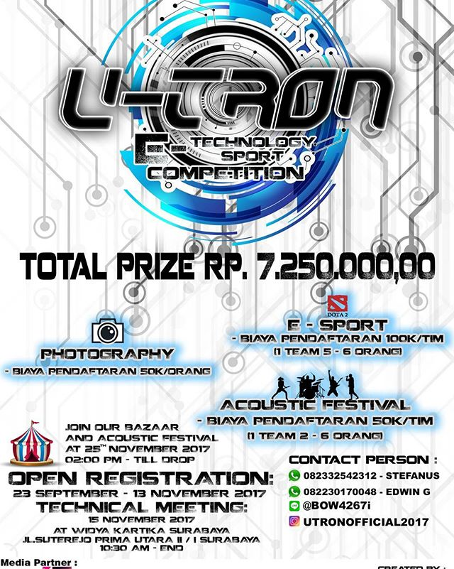 Event Universal Electronic (U-TRON) 2017 Untuk SMA-Umum