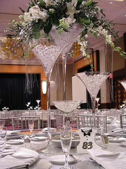 decoration table mariage glamour