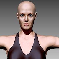 3d model Angelina Jolie body