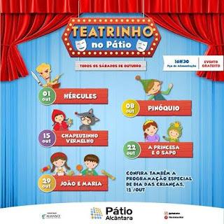 Shopping Pátio Alcântara recebe o espetáculo 'João e Maria'