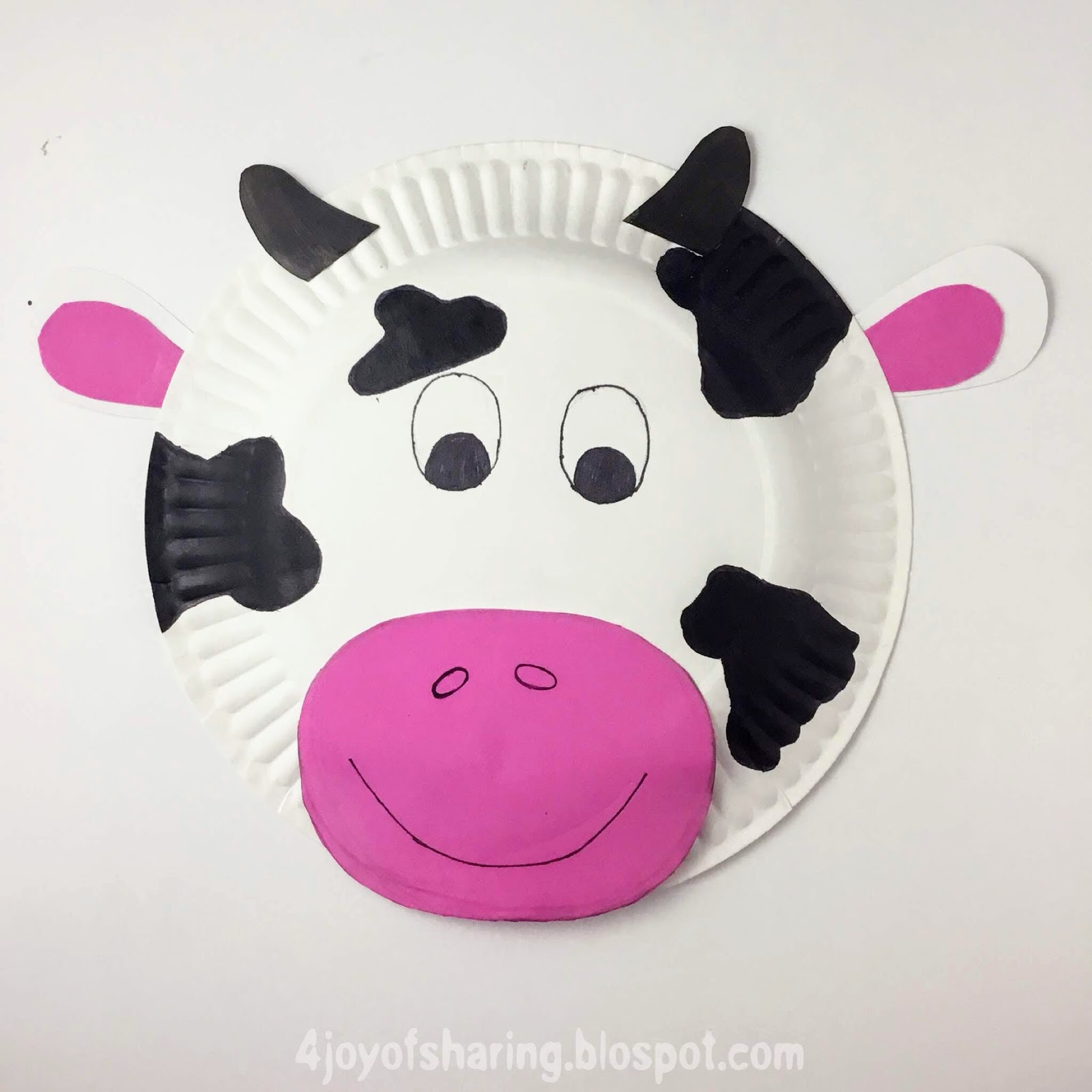 Paper Plate Craft, Animal Craft, Easy Craft, Kids Crafts, Cow Craft