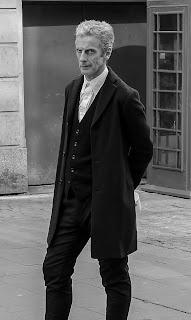 Peter Capaldi on set of Doctor Who