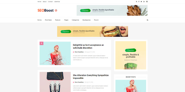 Seo Boost Blogger Template