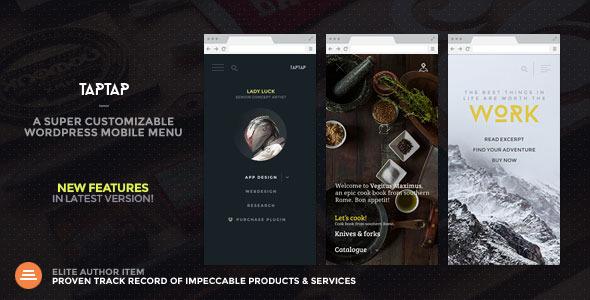 TapTap v2.6 – A Super Customizable WordPress Mobile Menu