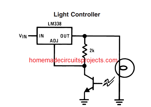 constant illumination light control using LM338