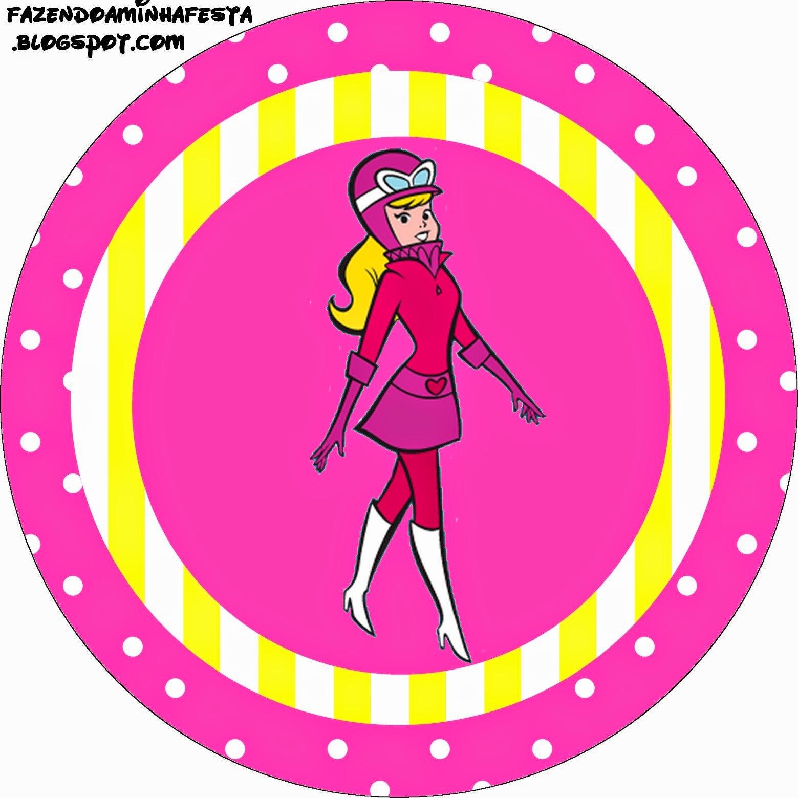 Toppers o Etiquetas de Penelope Glamour Retro para imprimir gratis.
