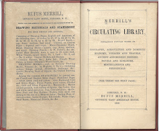 Title page to Merrill's Circulating Library