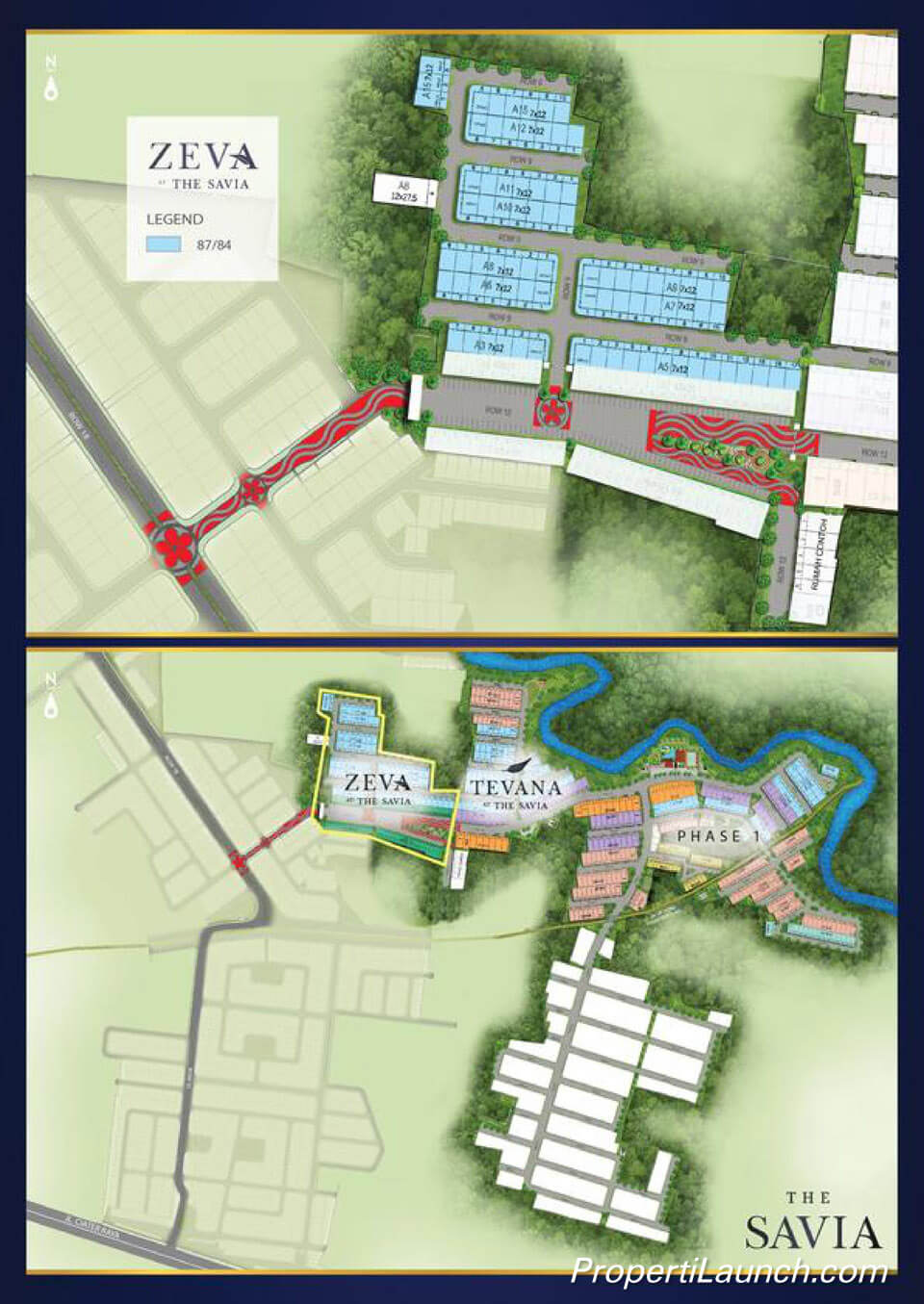 Site Plan Rumah ZEVA The Savia BSD