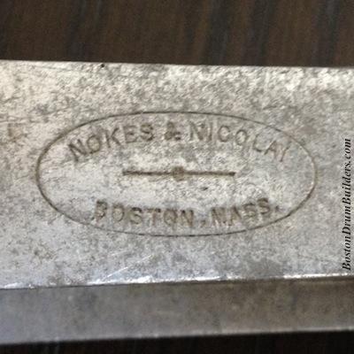 Nokes & Nicolai metal hardware stamp