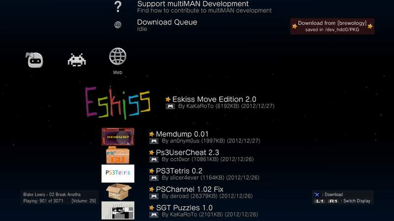 PS3 MultiMAN 04 17 05 Released: Installable Brewology PKGs