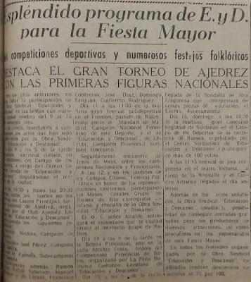 I Torneo Nacional de Ajedrez de Lérida 1948, recorte La Mañana