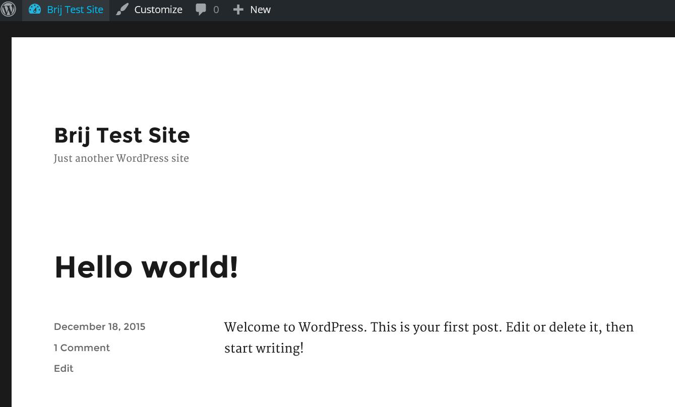 Brij Raj Singh: Setting up a Custom Wordpress Website using Azure
