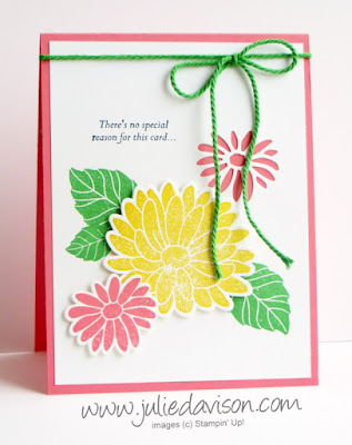 Stampin' Up! Stylish Stems Special Reason Flower Card ~ 2017 Occasions Catalog ~ www.juliedavison.com