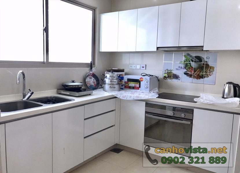 giá bán căn hộ the vista quận 2 - phòng bếp