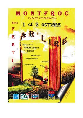 affiche festival AR'LIRE de MONTFROC