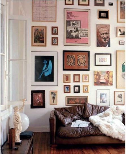 how to create a gallery wall via belle vivir blog