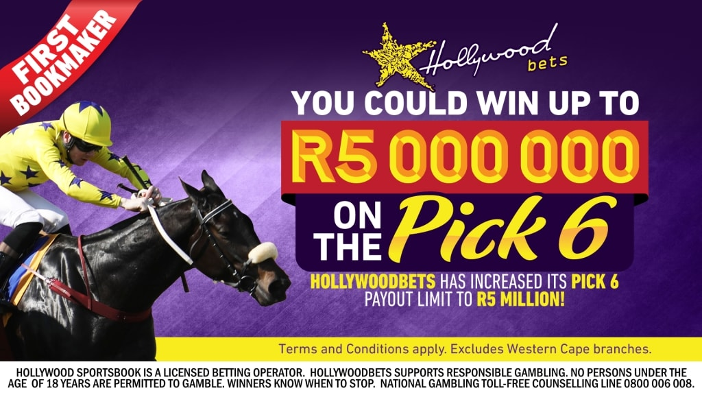 You could win up to R5 Million on the Pick 6 with Hollywoodbets - Horse Racing Betting