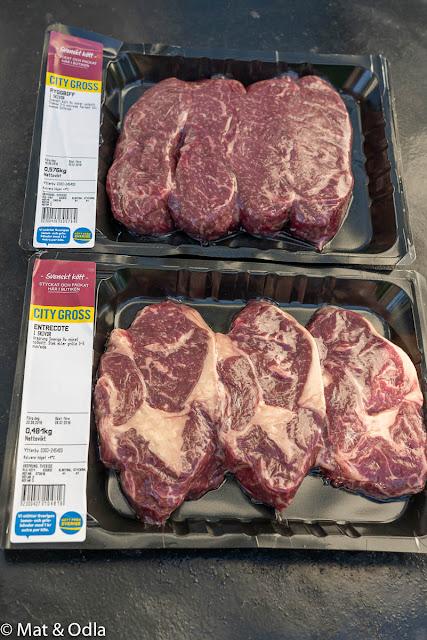 Kött ifrån City gross på grillen