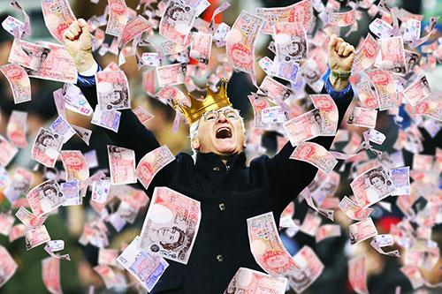 Leicester vô địch Premier League và cơn mưa tiền thưởng